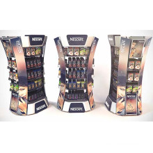 Store POS 4 Sides Cardboard Display Stand for Coffee