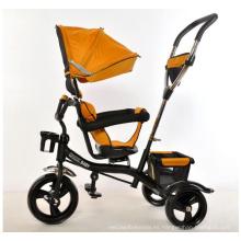 Triciclo de bebé 4 en 1 niños Trike con la cubierta plegable