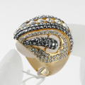 New arrival fashion jewelry rhinestone finger rings mix color high quality for women