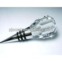 Decoración cristalina blanca del tapón de la botella de vino para el favor de la boda