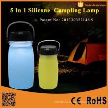 Linterna de camping plegable de energía solar portátil LED