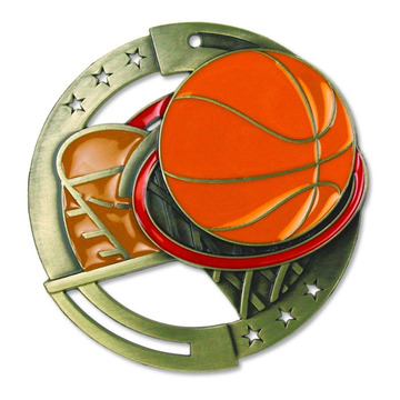 3 inches Basketball Themed World Class Medal