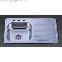 Single Topmount Kitchen Sink with drain board of KTS8050