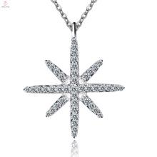 Персонализированные Чистого Серебра Звезда Ожерелье Серебро 925 Пробы