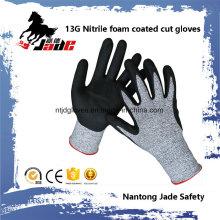 Gant de travail de sécurité résistant aux coupures en mousse Nitrile de 13 G 3/4