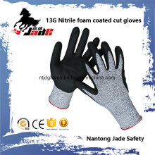 13G 3/4 Nitrile Foam Coated Cut Resistant Safety Work Glove