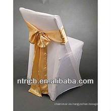 venta por mayor barata y de alta calidad plegable cubierta de cubierta de la silla la silla para el banquete de bodas