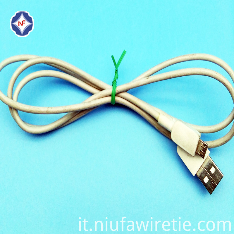 Plastic Tin Tie For Electric Wire Bundling