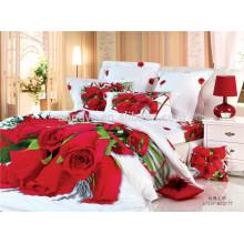 100% Baumwollgewebe-Hochzeits-Gebrauch-Luxuxdusche-Deckel-Bettwäsche-Sätze von China-Lieferanten