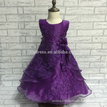 A-Line Lace Appliques Floor Length Sleeveless Customized Flower Girl Dress For Wedding Wear FGZ05 Frozen Party For Girls