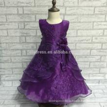 A-Line Lace Appliques Comprimento do chão sem mangas Custom Flower Girl Dress For Wedding Wear FGZ05 Frozen Party For Girls