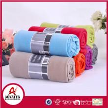 Fábrica de cobertor de lã polar softextile sólida best-seller