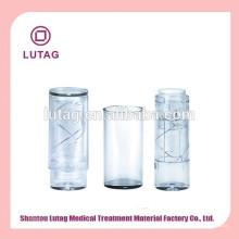 Claro empaquetado cosmético plástico fábrica labio palo tubo contenedor