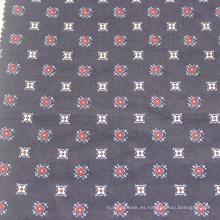 Tejido de satén 100% algodón estampado tejido teñido