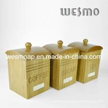 Café de bambu / açúcar / recipiente de chá