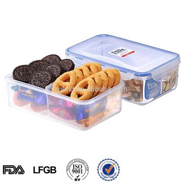 envase de plástico de embalaje de alimentos de PP para comida con compartimentos