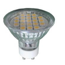 GU10 LED TUV / CE / RoHS aprobado (Ra: ≥ 85, 21SMD 5050 con la cubierta de cristal)