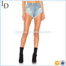 2017 fashionable hot shorts jeans factory direct wash beach shorts