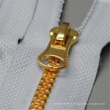 Fechamento automático Open-End Design personalizado de alta qualidade Resina de latão Zipper