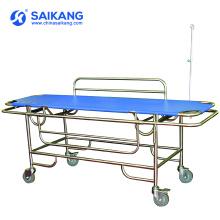 Trole paciente do transporte do quadro de aço inoxidável do metal de SKB037 (A)