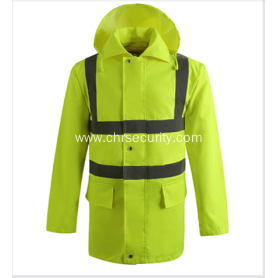 Reflective raincoat with high quality reflective tape