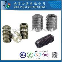 Feito em Taiwan Stainless Steel / Copper slot set set com ponto de copo DIN916
