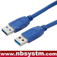 Câble USB 3.0 Un mâle à un mâle pour ordinateur de téléphone