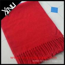 Roter Wollschal Kaschmir 100%