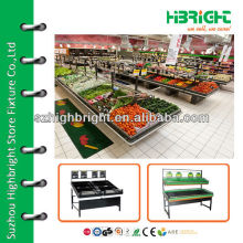 supermarket steel fruits and vegetables stand