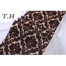 2017 Grand Jacquard Tissu Chenille Tissu Fleurs Marron Fabriqué en Manufacture Chinoise