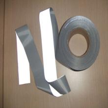 EN20471hi viz prata tela reflexiva 100% polyester