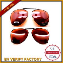 62mm lentes polarizadas atributo óptico y UV protección nuevo estilo Clip sobre gafas de sol marco del Metal (FM2020)