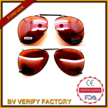 62mm Polarized Lenses Optical Attribute and UV Protection New Style Clip on Sunglasses Metal Frame (FM2020)