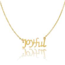 Collar personalizado del collar de cadena del nombre de encargo de la joyería de las mujeres del acero inoxidable