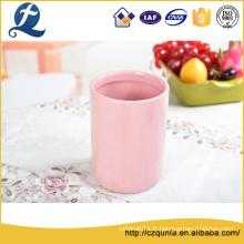 Pot de stockage en céramique de couleur bonbon solide personnalisé
