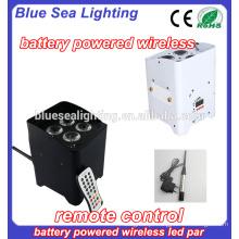 Venda directa do fabricante 4pcs 18W rgbwa uv 6in1 dmx LED par sem fio