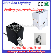 Прямая связь с производителем 4pcs 18W rgbwa uv 6in1 dmx LEDs wireless par