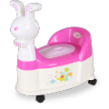 Rabbit Plastic Baby Potty Chair Com Roda