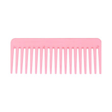 Pink Widetooth Comb for Curly Wet and Dry Hair