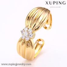 Punho da pulseira do bowknot do ouro dos braceletes da liga de cobre de 51020 Xuping para meninas