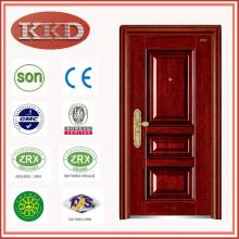 Puerta metálica de seguridad residencial KKD-324 con CE/SONCAP/BV