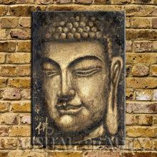 Arte famosa da pintura de Buddha na lona para a decoração Home