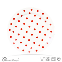 Nueva Bone China Dots Design Nueva forma de la placa