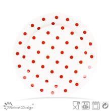 Nueva Bone China Dots Design Nueva forma de la placa