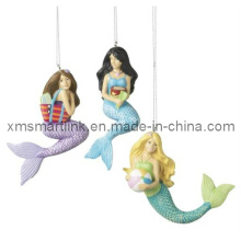 Poly Stone Mermaid Hanging Ornament Gifts