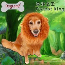 Grand chien chat chat perruques de lion de crinière de manne de fête de fête Costume de vêtements de déguisement