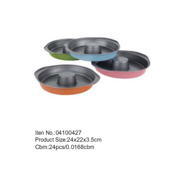 24*23cm colorful coating cake pan