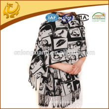 reversible and soft silk shawls and scarves