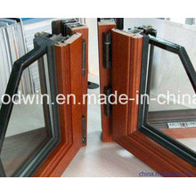 2017 ventana de ventana / inclinación y giro de madera revestidos de aluminio del nuevo diseño