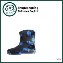 Kunststoff Gummistiefel | Unisex Gummistiefel | Kinder klare Farbe Regen Stiefel C-705